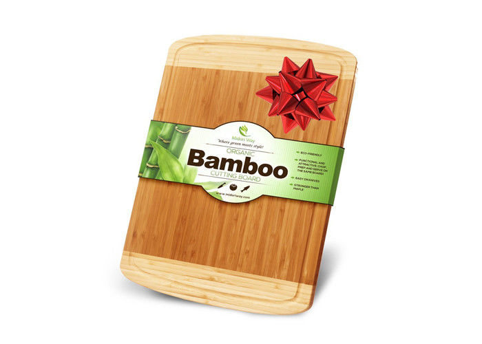 Modern Unique Bamboo Wood Block Chopping Board 2 Color Design Non Stick